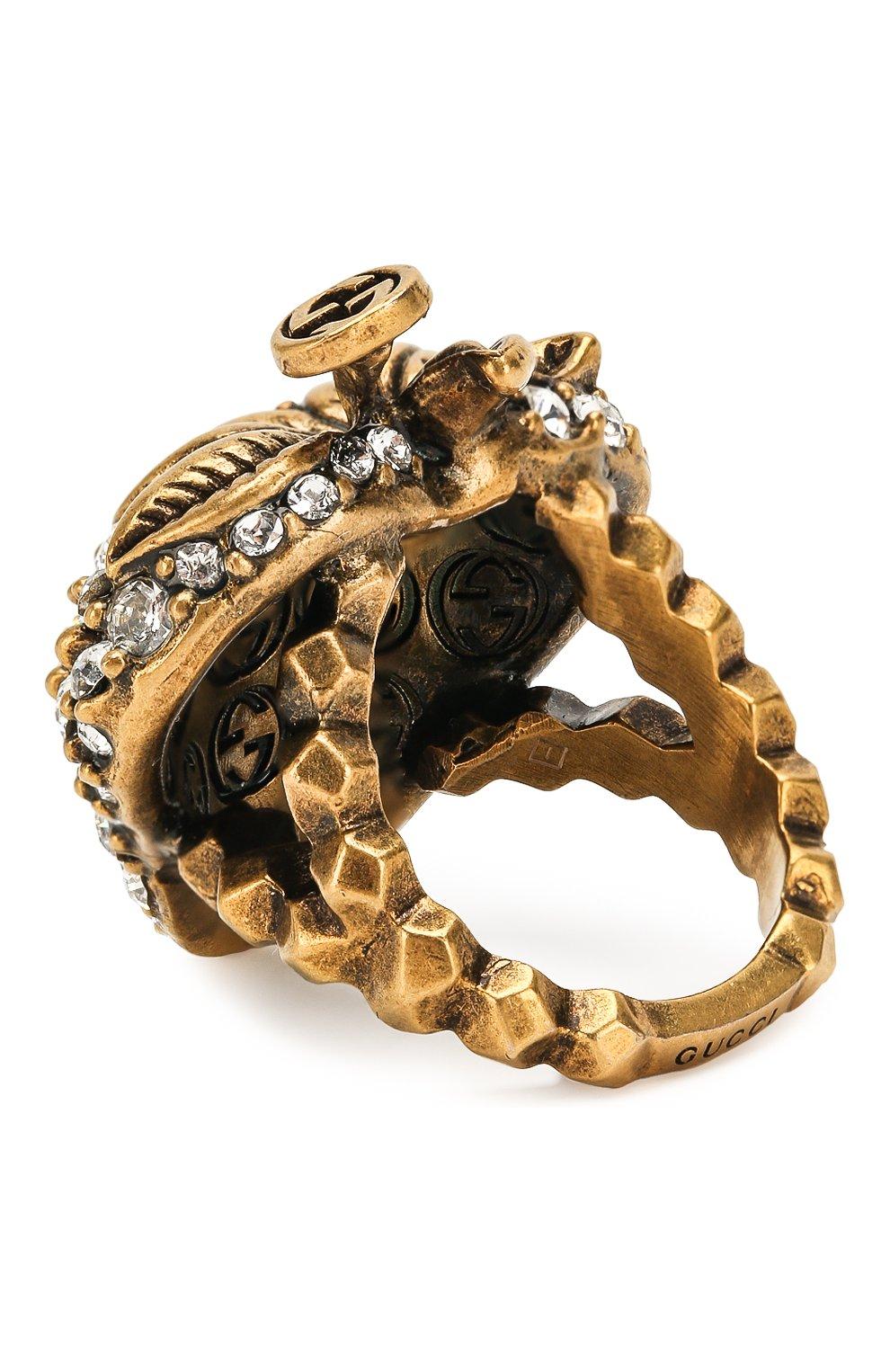 Женское кольцо GUCCI белого цвета, арт. 580297/J1D50 | Фото 2