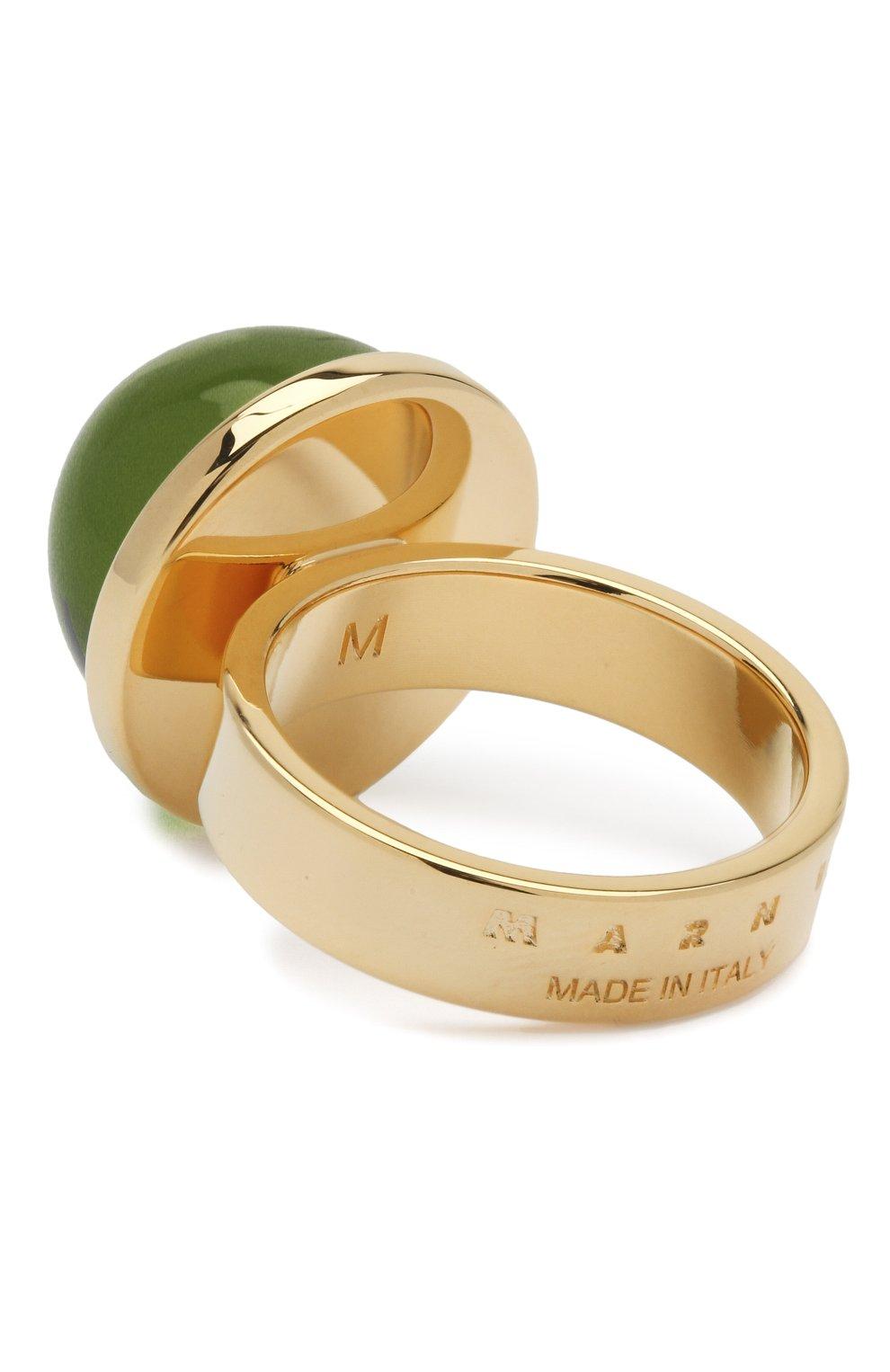 Женское набор колец MARNI зеленого цвета, арт. ANMV0028A0/M2000   Фото 6