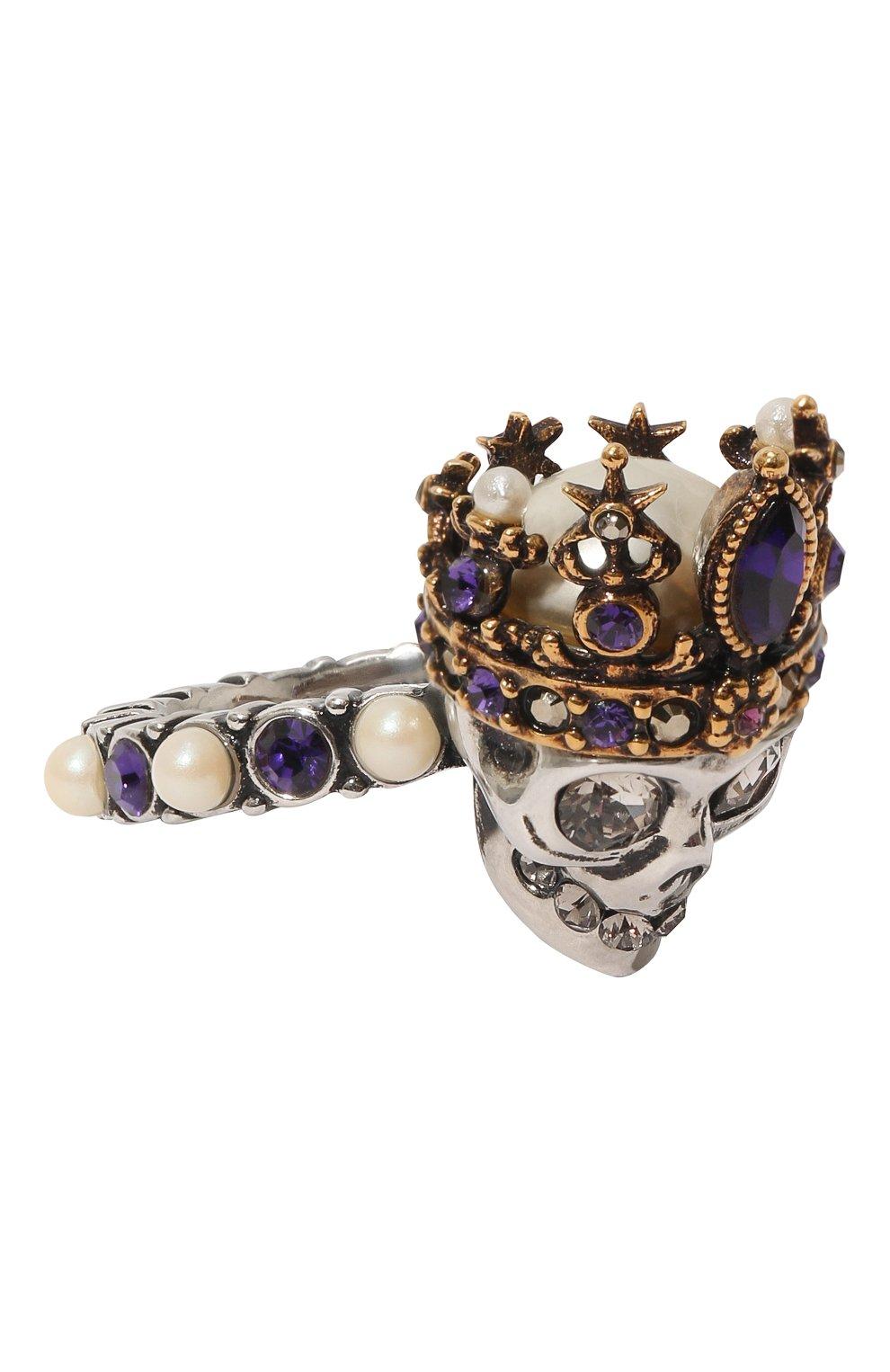 Женское кольцо ALEXANDER MCQUEEN золотого цвета, арт. 553661/J160Z | Фото 1
