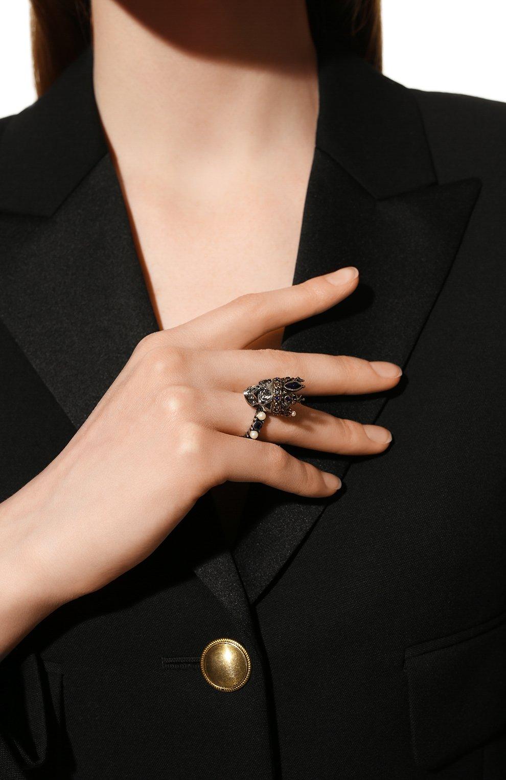 Женское кольцо ALEXANDER MCQUEEN золотого цвета, арт. 553661/J160Z | Фото 2