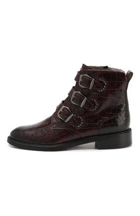 Женские кожаные ботинки PERTINI бордового цвета, арт. 192W16131D1 | Фото 3