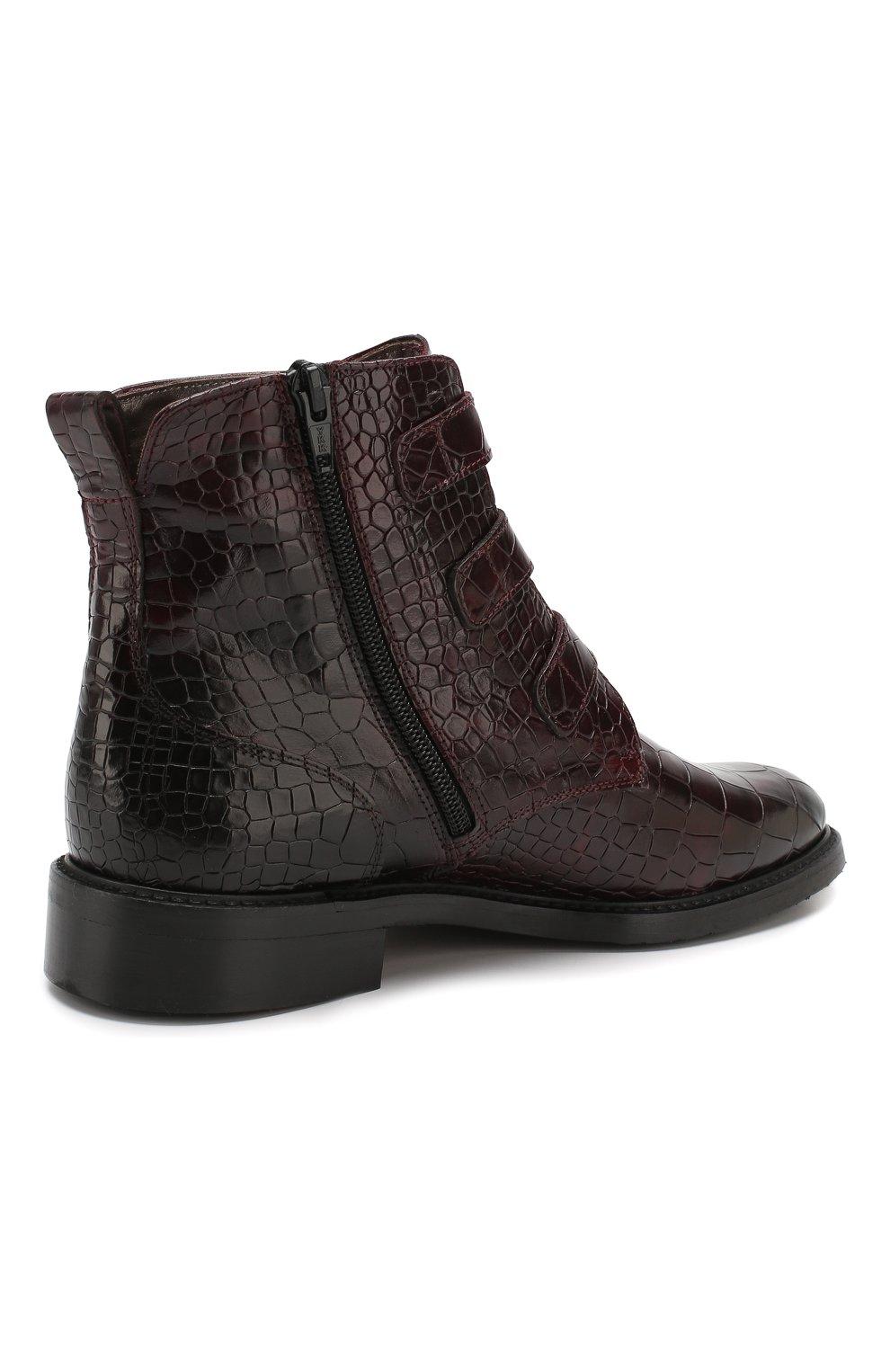 Женские кожаные ботинки PERTINI бордового цвета, арт. 192W16131D1 | Фото 4