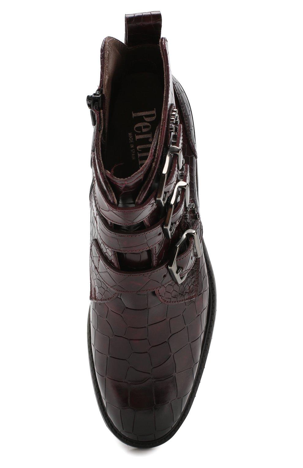 Женские кожаные ботинки PERTINI бордового цвета, арт. 192W16131D1 | Фото 5
