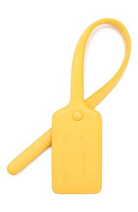 Женского кожаная бирка OFF-WHITE желтого цвета, арт. 0WZG017E199900776000 | Фото 1