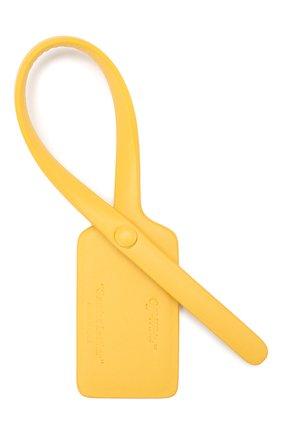 Женского кожаная бирка OFF-WHITE желтого цвета, арт. 0WZG017E199900776000 | Фото 2