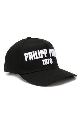 Женская хлопковая бейсболка PHILIPP PLEIN черного цвета, арт. MAC0427 | Фото 1