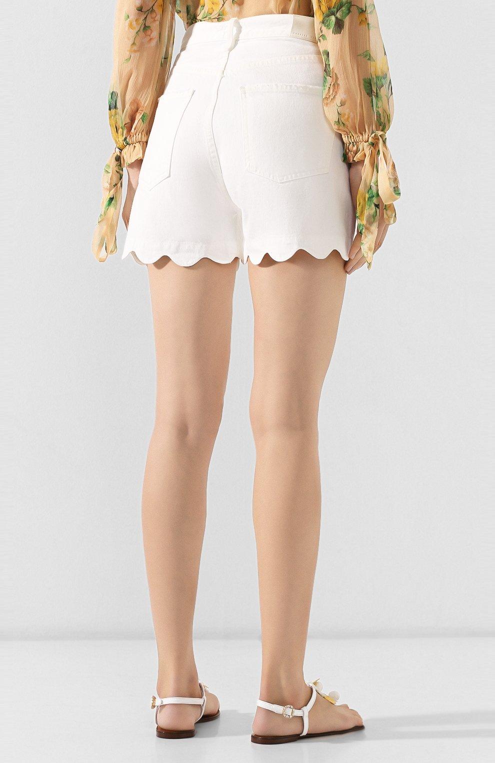 Женские джинсовые шорты CITIZENS OF HUMANITY белого цвета, арт. 90000-1114   Фото 4