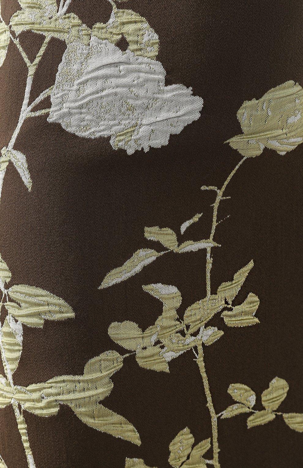 Женская юбка из смеси хлопка и шерсти DRIES VAN NOTEN хаки цвета, арт. 192-30851-8363 | Фото 5