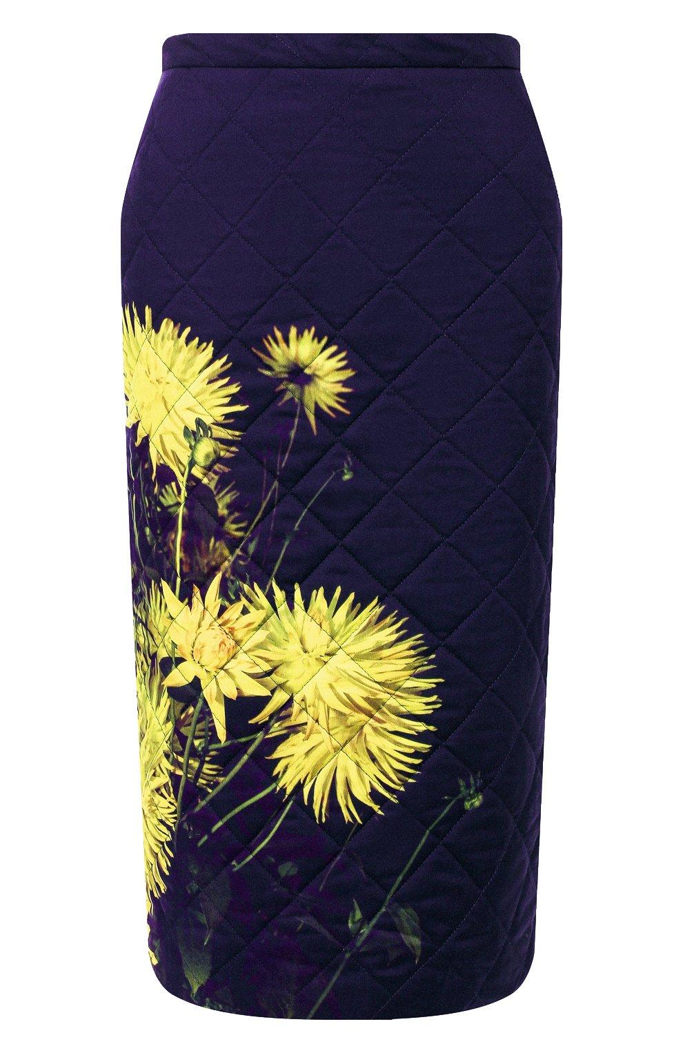 Женская стеганая юбка DRIES VAN NOTEN желтого цвета, арт. 192-30815-8537   Фото 1