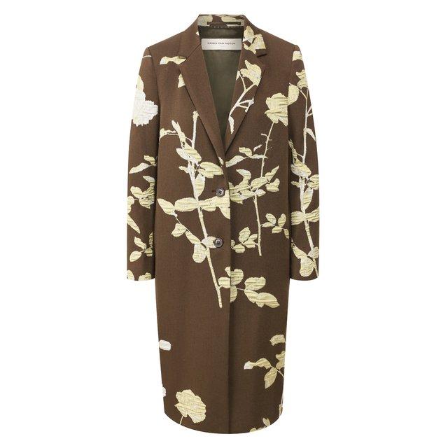 Пальто из смеси хлопка и шерсти Dries Van Noten