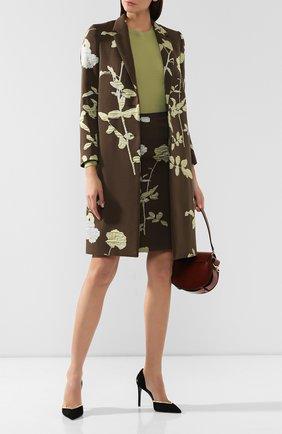 Женское пальто DRIES VAN NOTEN хаки цвета, арт. 192-30270-8363   Фото 2
