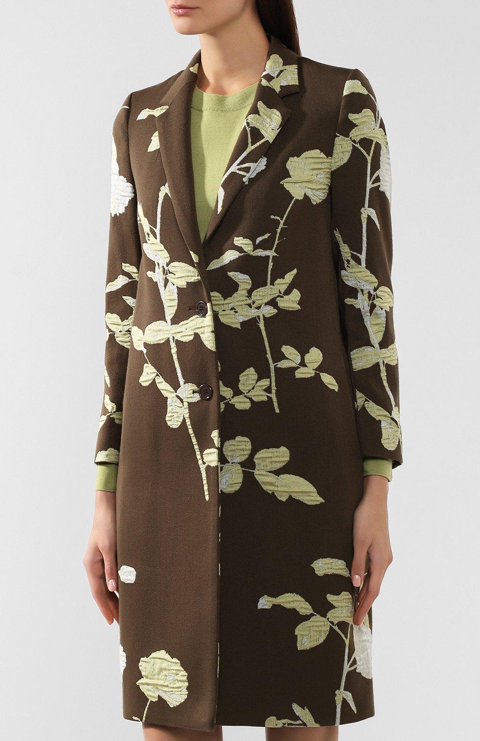 Женское пальто DRIES VAN NOTEN хаки цвета, арт. 192-30270-8363   Фото 3