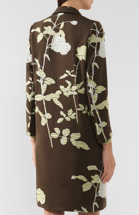 Женское пальто DRIES VAN NOTEN хаки цвета, арт. 192-30270-8363   Фото 4