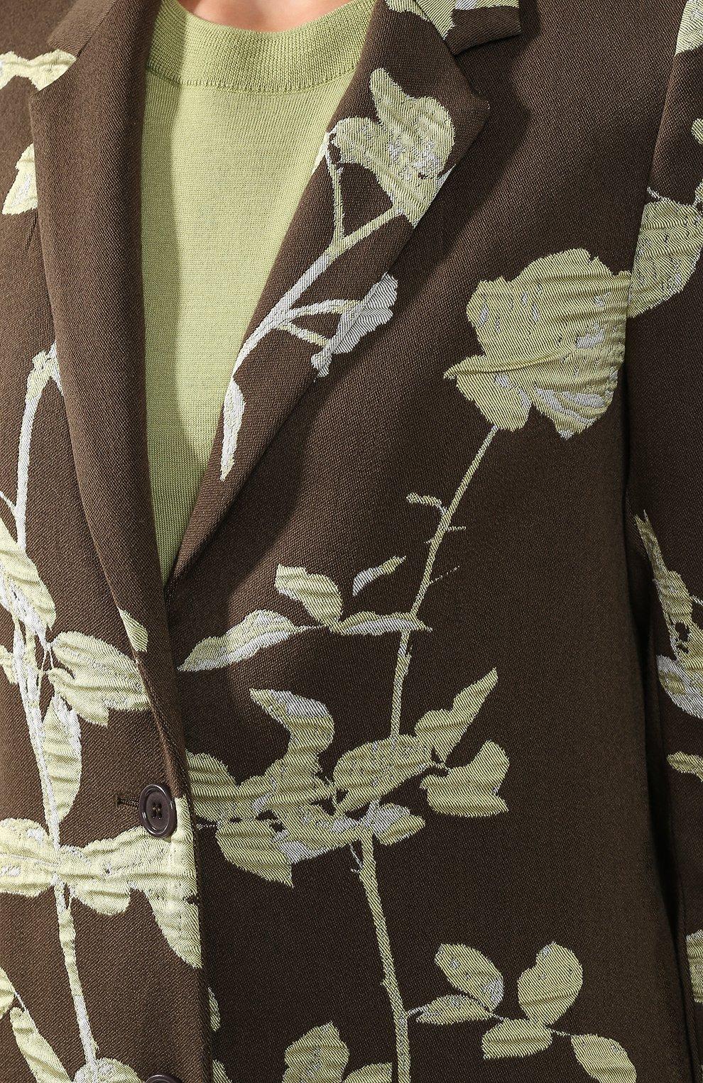 Женское пальто DRIES VAN NOTEN хаки цвета, арт. 192-30270-8363   Фото 5