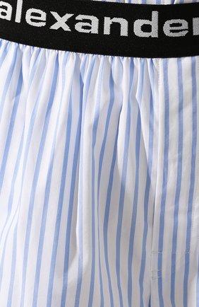 Женские хлопковые шорты ALEXANDER WANG голубого цвета, арт. UWC2194188 | Фото 5