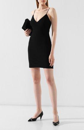 Женское платье из смеси шерсти и вискозы ALEXANDERWANG.T черного цвета, арт. 4WC2196003 | Фото 2