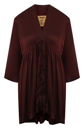 Женская шелковая блузка UMA WANG бордового цвета, арт. A9 M UP1014 | Фото 1