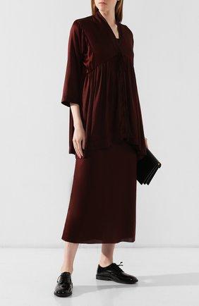 Женская шелковая блузка UMA WANG бордового цвета, арт. A9 M UP1014 | Фото 2