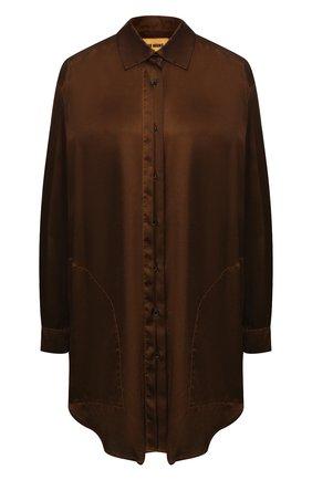 Женская шелковая блузка UMA WANG коричневого цвета, арт. A9 M UP1003 | Фото 1