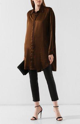 Женская шелковая блузка UMA WANG коричневого цвета, арт. A9 M UP1003 | Фото 2