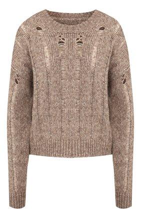 Женская свитер из хлопка и шерсти UMA WANG бежевого цвета, арт. A9 M UK7194 | Фото 1