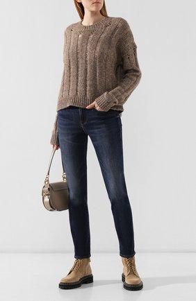 Женская свитер из хлопка и шерсти UMA WANG бежевого цвета, арт. A9 M UK7194 | Фото 2