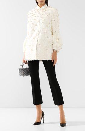Женское меховое пальто VALENTINO белого цвета, арт. SF3FA786CRF   Фото 2