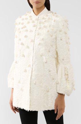 Женское меховое пальто VALENTINO белого цвета, арт. SF3FA786CRF   Фото 3