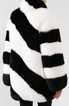 Женская шуба из меха лисы SAINT LAURENT черно-белого цвета, арт. 583991/Y7LY2 | Фото 4