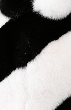 Женская шуба из меха лисы SAINT LAURENT черно-белого цвета, арт. 583991/Y7LY2 | Фото 5