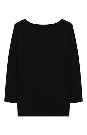 Детская лонгслив из шерсти и шелка NORVEG черного цвета, арт. 19WSG2HL-002 | Фото 2