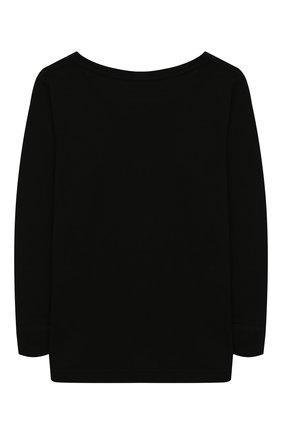 Детская лонгслив из шерсти и шелка NORVEG черного цвета, арт. 19WSB2HL-002 | Фото 2