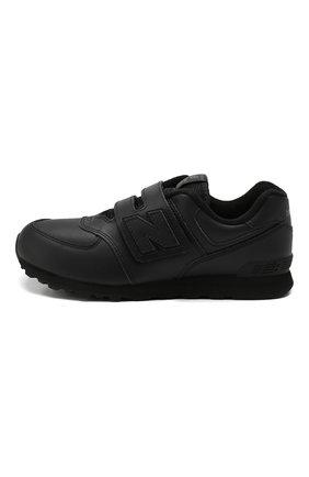 Детские кроссовки 574 classic NEW BALANCE черного цвета, арт. YV574ERN/M | Фото 2