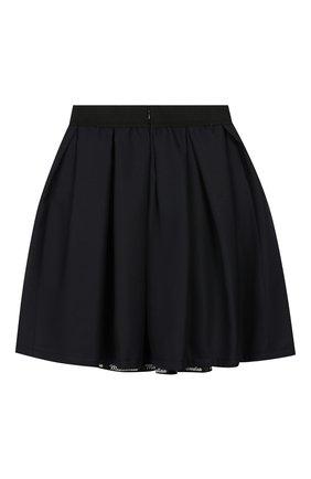 Детская юбка MONNALISA темно-синего цвета, арт. 18CGON | Фото 2
