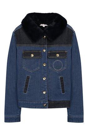 Детская джинсовая куртка CHLOÉ голубого цвета, арт. C16347 | Фото 1