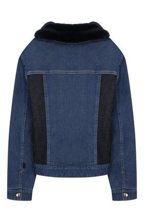 Детская джинсовая куртка CHLOÉ голубого цвета, арт. C16347 | Фото 2