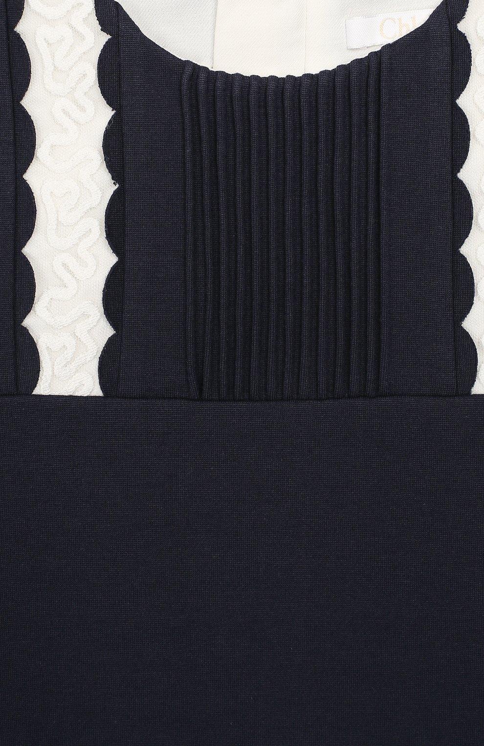 Детское платье CHLOÉ синего цвета, арт. C12745 | Фото 3