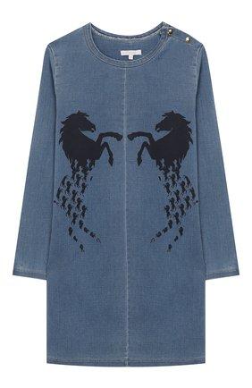 Детское платье CHLOÉ голубого цвета, арт. C12747 | Фото 1