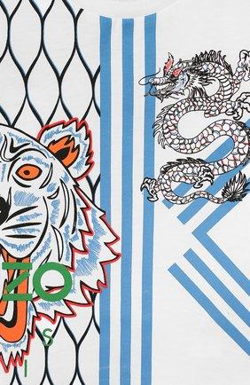 Детский хлопковый лонгслив KENZO белого цвета, арт. KP10578-BB | Фото 3 (Рукава: Длинные; Материал внешний: Хлопок; Статус проверки: Проверено)
