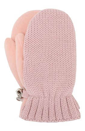 Детские шерстяные варежки IL TRENINO розового цвета, арт. 19 9664/E2 | Фото 1