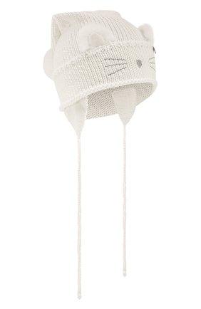 Шерстяная шапка с меховой отделкой | Фото №1