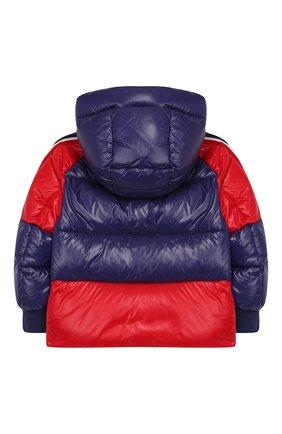 Детский пуховая куртка с капюшоном MONCLER ENFANT синего цвета, арт. E2-954-41314-05-68950/4-6A | Фото 2