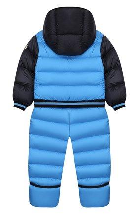 Детский пуховый комбинезон MONCLER ENFANT голубого цвета, арт. E2-951-14351-85-53227/18M-3A   Фото 2