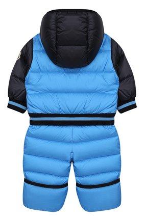 Детский пуховый комбинезон MONCLER ENFANT голубого цвета, арт. E2-951-14351-85-53227/3M-18M   Фото 2