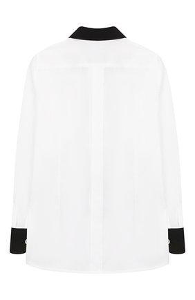 Детская хлопковая рубашка DOLCE & GABBANA черно-белого цвета, арт. L42S98/G7SVC/2-6 | Фото 2
