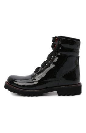Детские кожаные ботинки с меховой отделкой DOLCE & GABBANA черного цвета, арт. D10849/AB543/29-36 | Фото 2