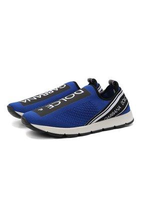Детские кроссовки DOLCE & GABBANA синего цвета, арт. D10723/AH677/37-39 | Фото 1