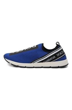 Детские кроссовки DOLCE & GABBANA синего цвета, арт. D10723/AH677/37-39 | Фото 2