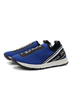 Детские кроссовки DOLCE & GABBANA синего цвета, арт. D10723/AH677/29-36 | Фото 1