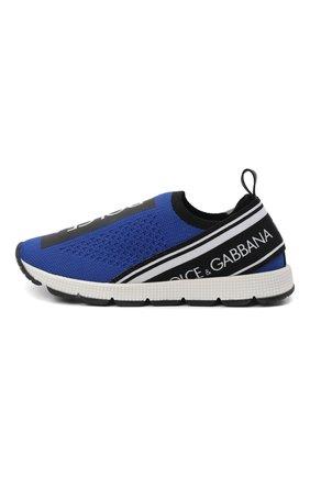 Детские кроссовки DOLCE & GABBANA синего цвета, арт. D10723/AH677/24-28 | Фото 2